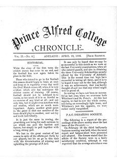 PAC Chronicle 1886 (2) Front Cover