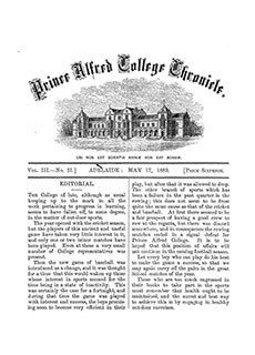 PAC Chronicle 1889 (2) Front Cover