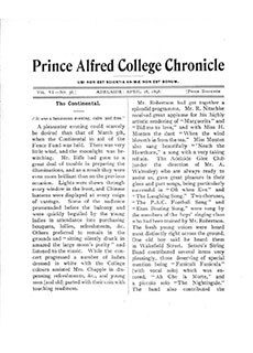 PAC Chronicle 1898 (1) Front Cover