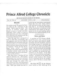 PAC Chronicle 1898 (2) Front Cover