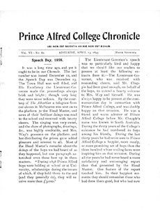 PAC Chronicle 1899 (1) Front Cover