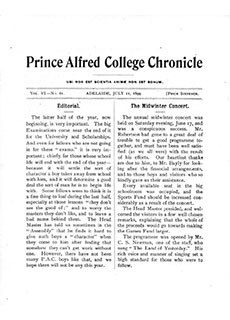 PAC Chronicle 1899 (2) Front Cover