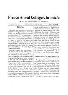 PAC Chronicle 1901 (1) Front Cover