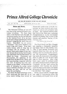 PAC Chronicle 1901 (2) Front Cover
