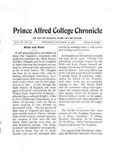 PAC Chronicle 1901 (3) Front Cover