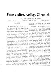 PAC Chronicle 1904 (2) Front Cover