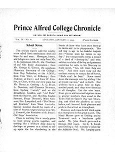 PAC Chronicle 1905 (1) Front Cover