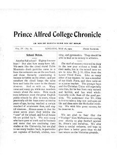 PAC Chronicle 1905 (2) Front Cover
