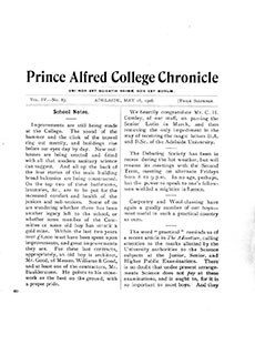 PAC Chronicle 1906 (2) Front Cover