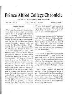 PAC Chronicle 1907 (2) Front Cover