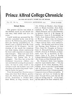 PAC Chronicle 1907 (3) Front Cover
