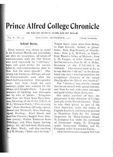 PAC Chronicle 1908 (3) Front Cover