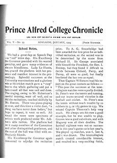 PAC Chronicle 1909 (1) Front Cover