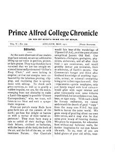 PAC Chronicle 1911 (2) Front Cover