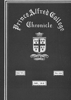 PAC Chronicle 1916 (1) Front Cover