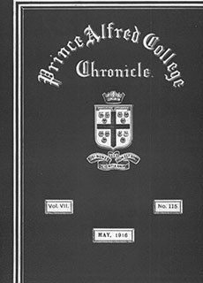 PAC Chronicle 1916 (2) Front Cover