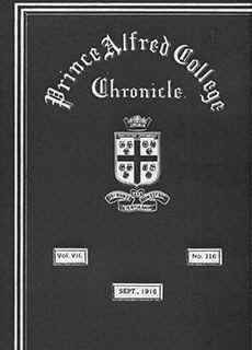 PAC Chronicle 1916 (3) Front Cover