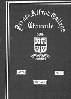 PAC Chronicle 1918 (2) Front Cover