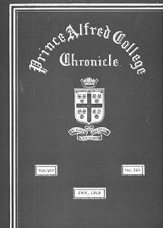 PAC Chronicle 1919 (1) Front Cover