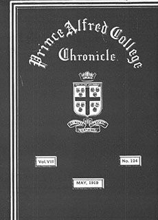 PAC Chronicle 1919 (2) Front Cover
