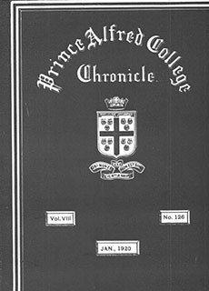 PAC Chronicle 1920 (1) Front Cover