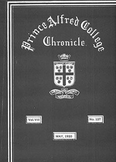 PAC Chronicle 1920 (2) Front Cover