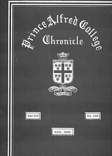 PAC Chronicle 1920 (3) Front Cover