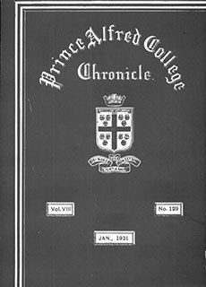 PAC Chronicle 1921 (1) Front Cover