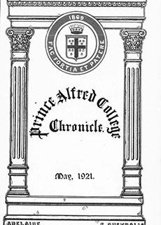 PAC Chronicle 1921 (2) Front Cover