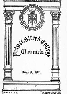 PAC Chronicle 1921 (3) Front Cover