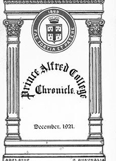 PAC Chronicle 1921 (4) Front Cover
