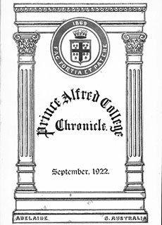 PAC Chronicle 1922 (2) Front Cover