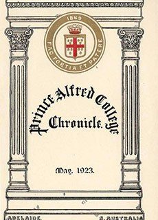 PAC Chronicle 1923 (1) Front Cover