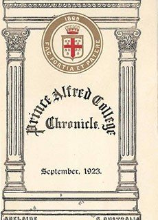 PAC Chronicle 1923 (2) Front Cover