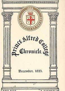 PAC Chronicle 1923 (3) Front Cover