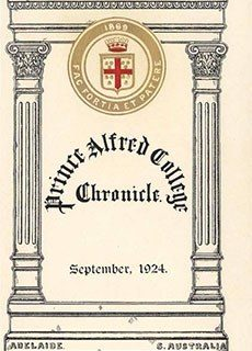 PAC Chronicle 1924 (2) Front Cover