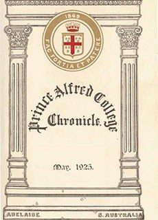PAC Chronicle 1925 (1) Front Cover