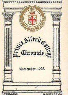 PAC Chronicle 1925 (2) Front Cover