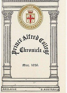 PAC Chronicle 1926 (1) Front Cover