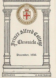 PAC Chronicle 1926 (3) Front Cover