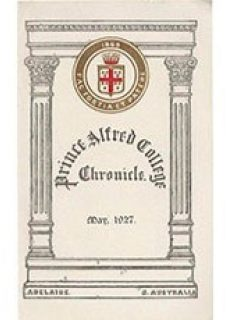 PAC Chronicle 1927 (1) Front Cover