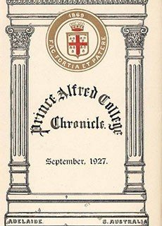 PAC Chronicle 1927 (2) Front Cover