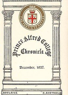 PAC Chronicle 1927 (3) Front Cover
