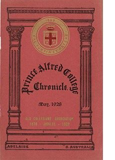 PAC Chronicle 1928 (1) Front Cover