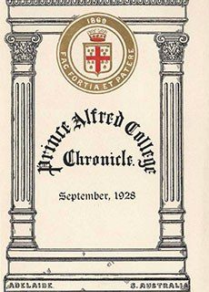 PAC Chronicle 1928 (2) Front Cover
