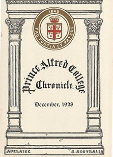 PAC Chronicle 1928 (3) Front Cover