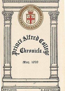 PAC Chronicle 1929 (1) Front Cover