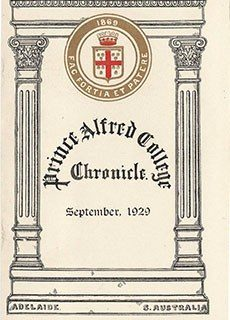 PAC Chronicle 1929 (2) Front Cover