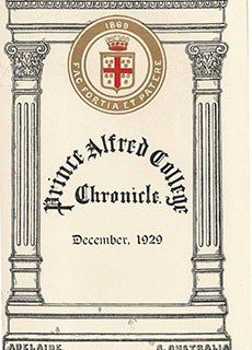 PAC Chronicle 1929 (3) Front Cover