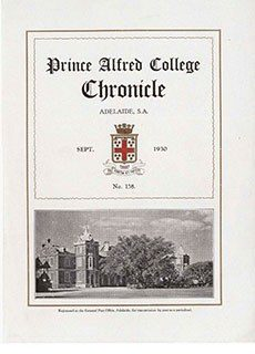 PAC Chronicle 1930 (2) Front Cover